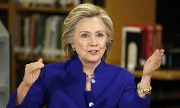 Hillary Clinton on 5 May, 2015.