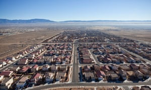 One of many new suburban developments in the desert outside Albuquerque.