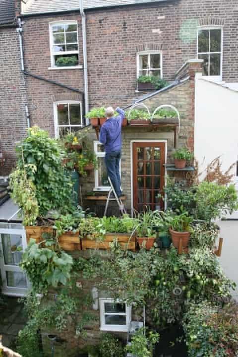 Mark Ridsdill Smith's balcony in London.