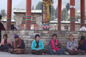 Lunchtime reflection next to the Memorial Chorten, Thimphu.