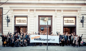 350.org activist occupy Wellcome collection to pressure the Wellcome trust to divest from fossil fuels, 18 April 2015.