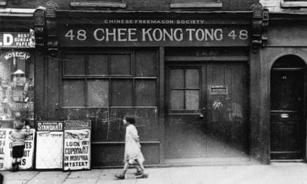 Chinese Freemason Society in Limehouse, near London's docklands, in 1927.