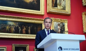 Bank of England governor Mark Carney makes an announcement on the next £20 note at the V&A museum.