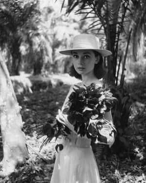 Audrey Hepburn photographed on location in Africa for The Nun's Story by Leo Fuchs, 1958