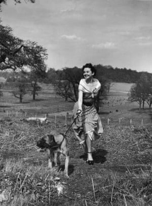 Unpublished photograph of Audrey Hepburn in Richmond Park by Bert Hardy, 30 April 1950
