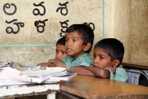 Boys at school in India