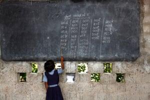 Child at school India