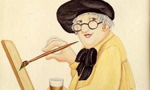 Beryl Cook self-portrait