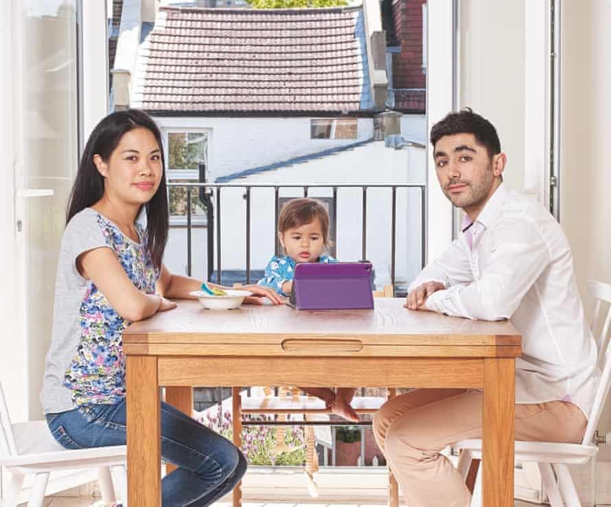 Karim Dia Toubajie with his wife, Joanna, and their daughter, Freida.