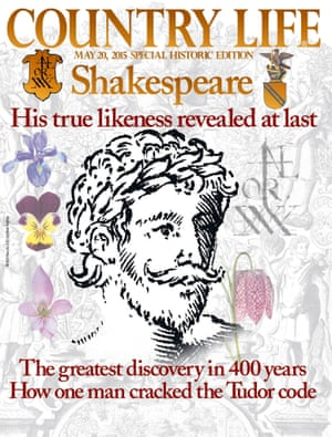 Country Life May issue magazine cover: 'Shakespeare, his true likeness revealed at last