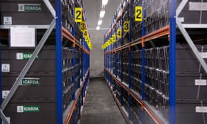 The seeds are stored in boxes labelled alphabetically, in a room kept at -18C.