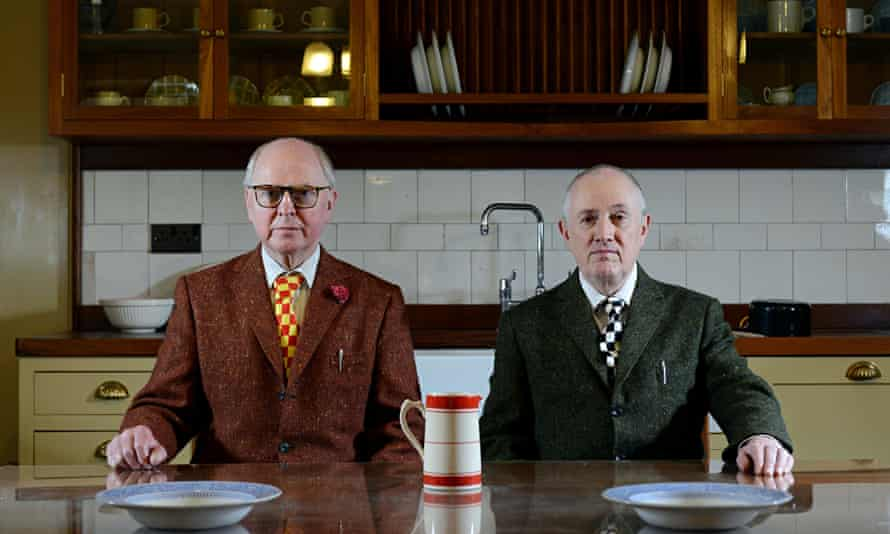 Gilbert and George have never cooked in the house – not even boiled an egg. Photograph: Christian Si