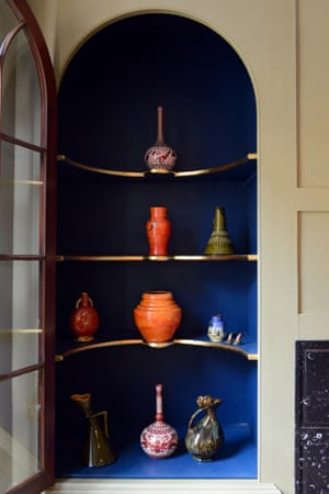 On display ... the vases of great 19th-century designers. Photograph: Christian Sinibaldi for the Guardian