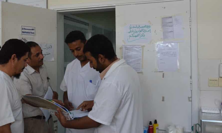 Medics at the Médicins Sans Frontières hospital in Aden, Yemen.