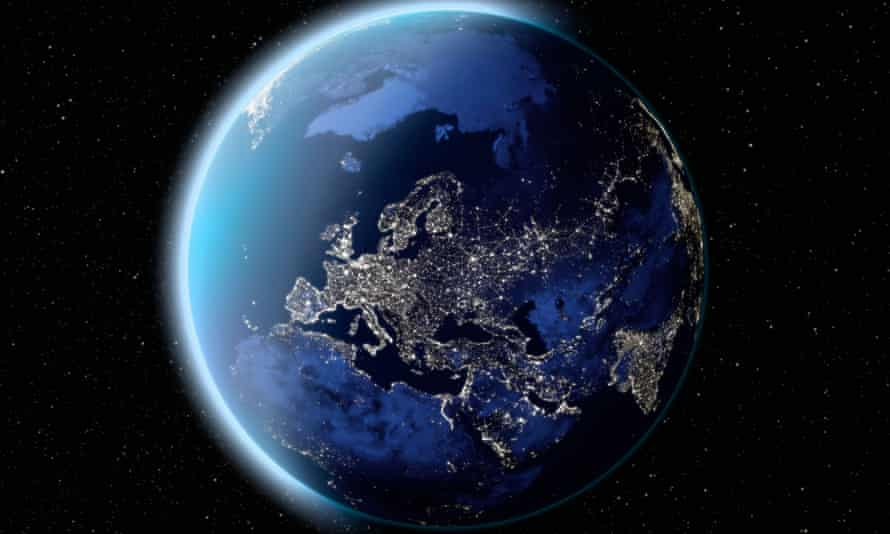 satellite image of planet earth.