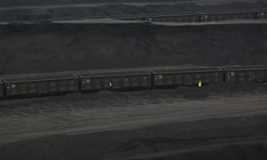 Coal trains from Shenhua Group in Ordos, Inner Mongolia.