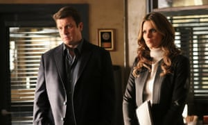 Nathan Fillion as Richard Castle and Stana Katic as NYPD Detective Kate Beckett in Castle