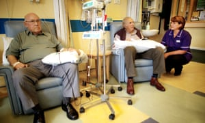 Cancer patients undergo chemotherapy