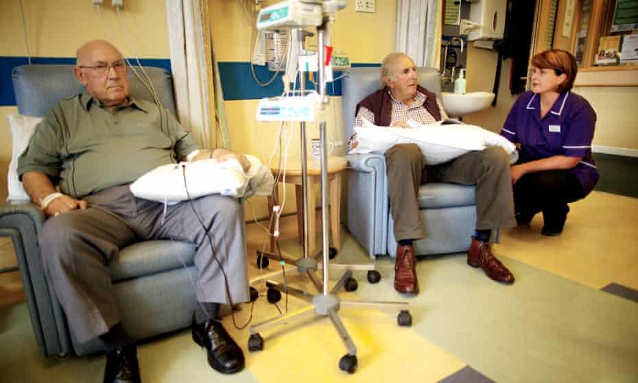 Cancer patients undergo chemotherapy