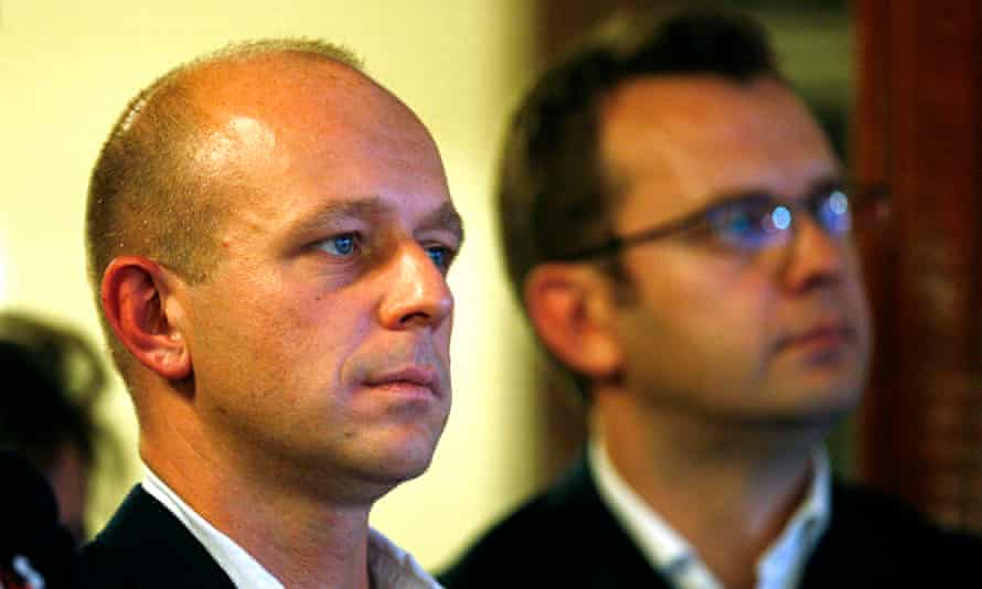 Steve Hilton pictured with David Cameron's former spin doctor Andy Coulson in 2007