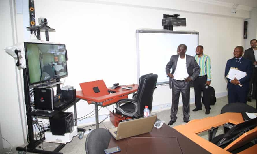 One of the AVU's new distance learning centres in Ghana's University of Winneba is launched