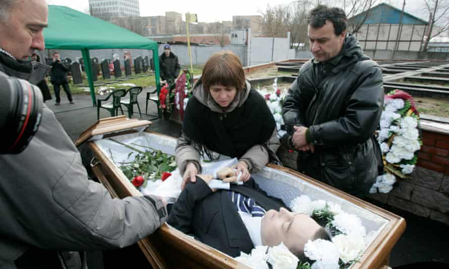 The funeral of Sergei Magnitsky, who died in a Russian prison