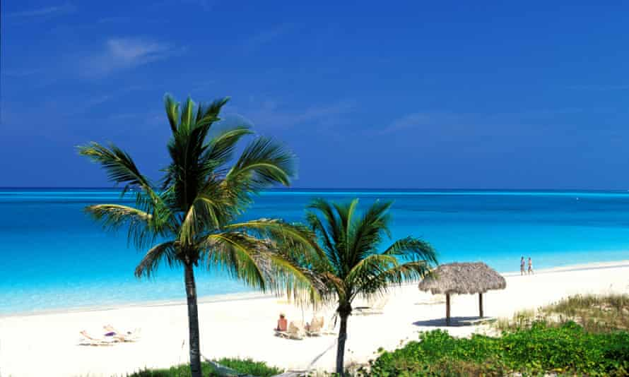 The beach on Providenciales in the Turks and Caicos Islands.