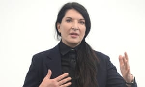 Marina Abramovic attends a press conference for her '512 Days' happening at the Serpentine Gallery.