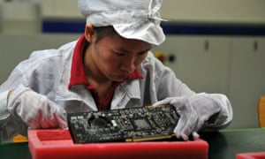 Chinese worker at iPhone plant