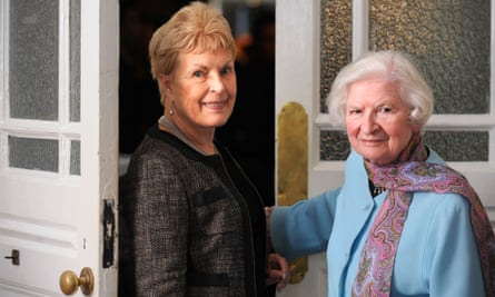 Ruth Rendell, left, and PD James, who died in November 2014.