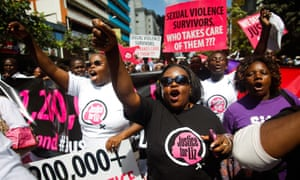 A 'Justice for Liz' rally in Nairobi in 2013.