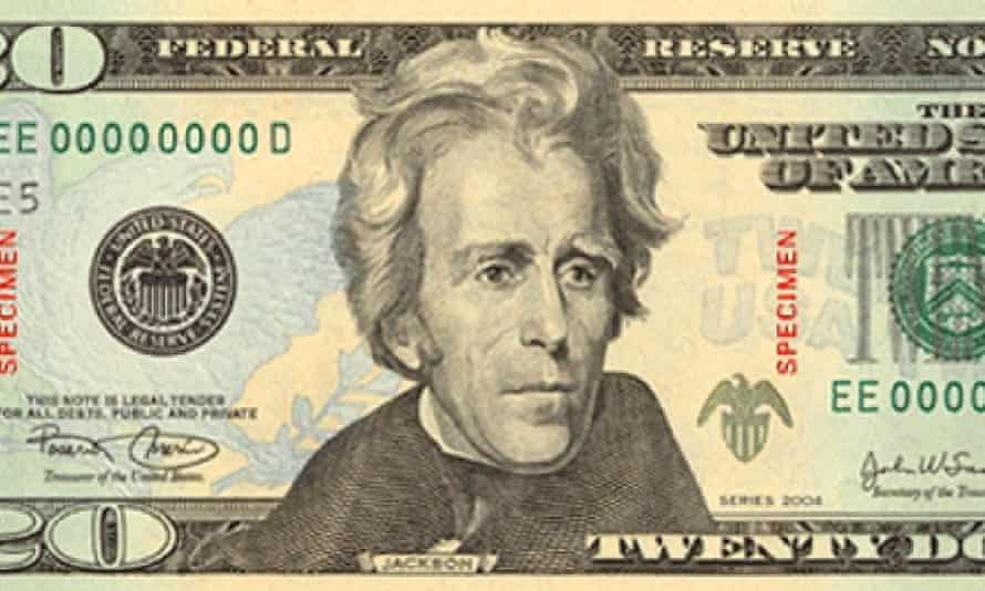 Could Andrew Jackson lose his place in our pockets?