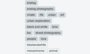 The autotags on the photo of William.