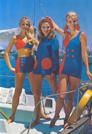 Models from the 1960s modelling beachwear copyright Lancashire County Council