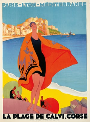 Exhibition poster for Riviera style copyright Lancashire County Council