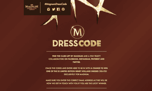 Magnum's Dress Code competition offered the chance to win Henry Holland dresses