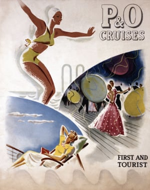 P&O Cruise Brochure cover for 'First and Tourist Class Cruises'