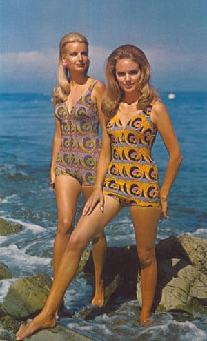 Models in bathing suits from the 1960s