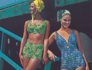 Riviera style: models in bathing suits copyright Lancashire County Council