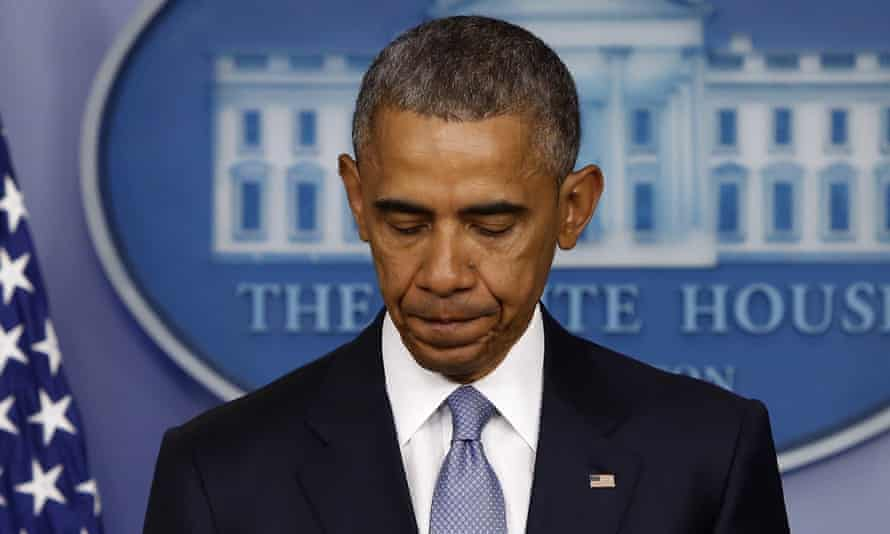 US President Barack Obama delivers a statement at the White House