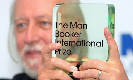 Laszlo Krasznahorkai wins the Man Booker International Prize at the Victoria & Albert Museum, London.