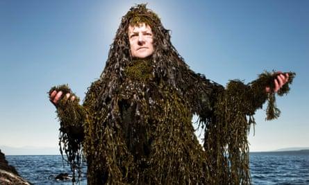 Iain McKellar, a seaweed forager on the Isle of Bute, Scotland