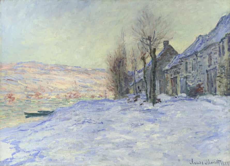 Claude Monet's Lavacourt Under Snow.