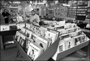 Ray's Jazz Shop on Shaftesbury Ave, London, W1, UK 15 December 1988