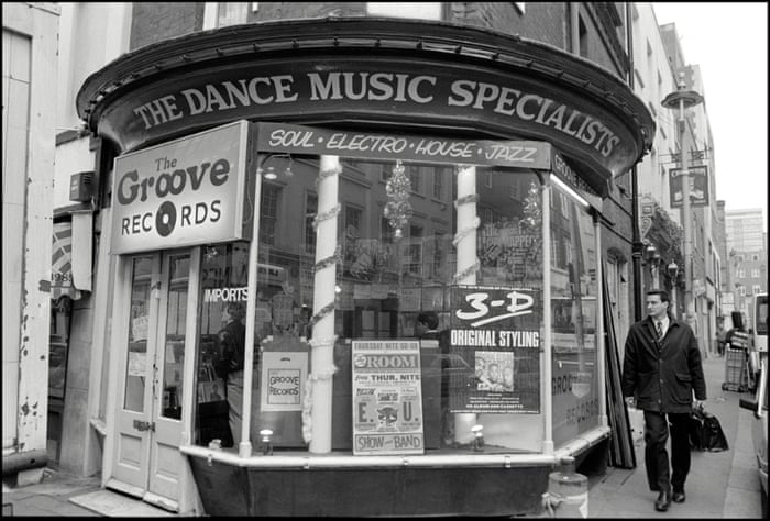 Groove Records on Greek Street, London, 1988
