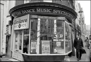 Groove Records on Greek Street, London, 1988