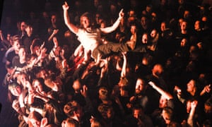 Kevin EG Perry crowdsurfing.