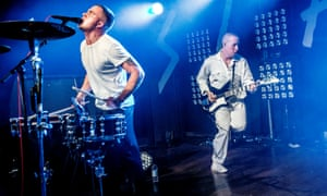 Slaves performing live at the Scala.