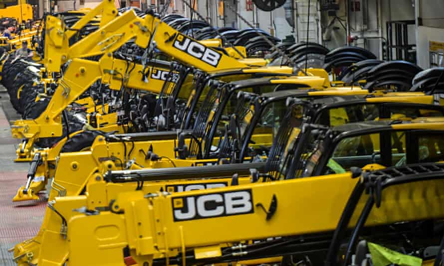 JCB Telescopic Handlers on the production line at the JCB World Headquarters in Cheadle, England