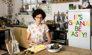 'Food is up there with art and music in a country's culture': Zoe Adjonyoh, of Irish-Ghanaian descent, runs the pop-up Zoe's Ghana Kitchen.